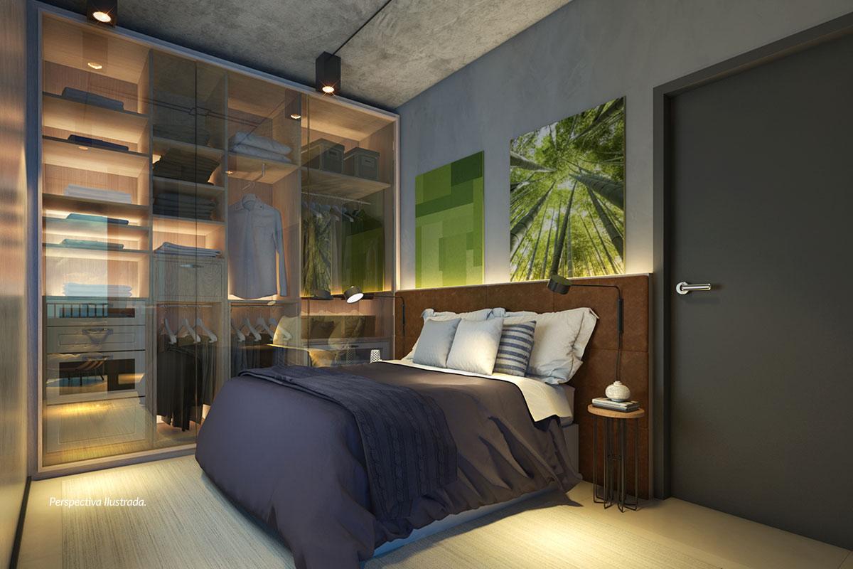 Apartamento de 47m² | Dormitório