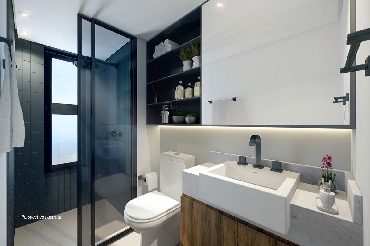 Apartamento de 77m² | Banheiro