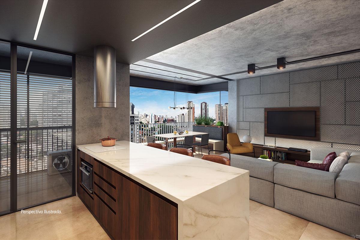 Apartamento de 77m² | Sala Integrada